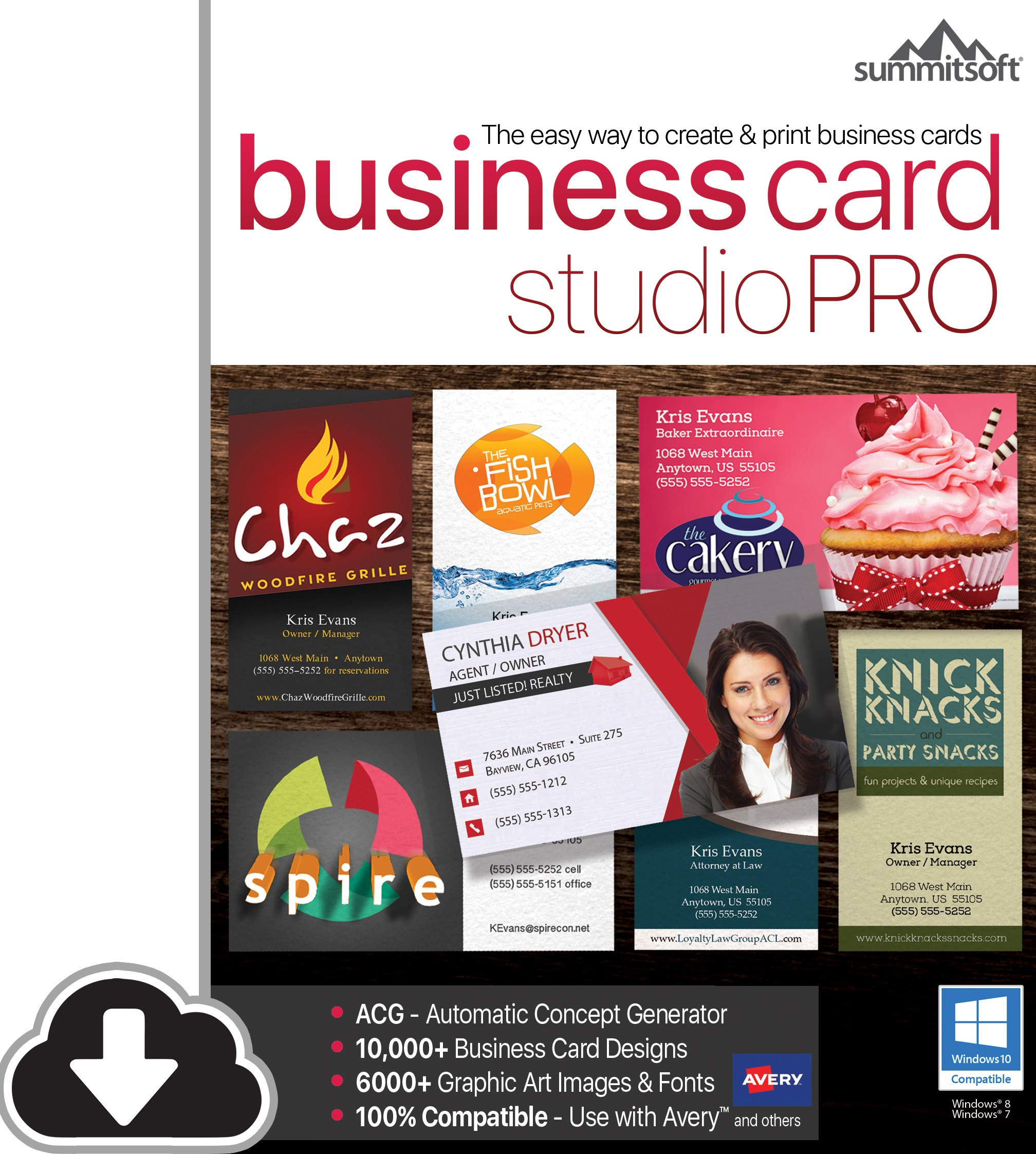 Business Card Studio Pro [PC Download] by Summitsoft