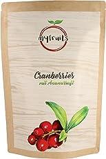 myfruits® Cranberries mit Ananassaft, getrocknet, ohne raffinierten Zucker. Perfekt für Müsli, Joghurt oder Salate (1 kg Big Pack)