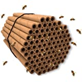 Mason Bee Tubes | 100 Pack of 6 inch Long and 5/16 Inner Diameter Hole | Great Refills and Inserts for Bee Houses…