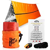 TREKYR Emergency Tent - Survival Tent 2 Person Waterproof for Hiking Survival Kit - SurvivalShelter for Your Bug Out Bag or