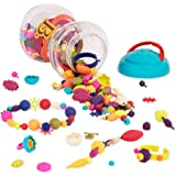 B. Toys – 300 Pcs – Pop Snap Bead Jewelry Set for Kids – Pop Arty! – DIY Craft Jewelry Making Kit – Creative Necklaces…