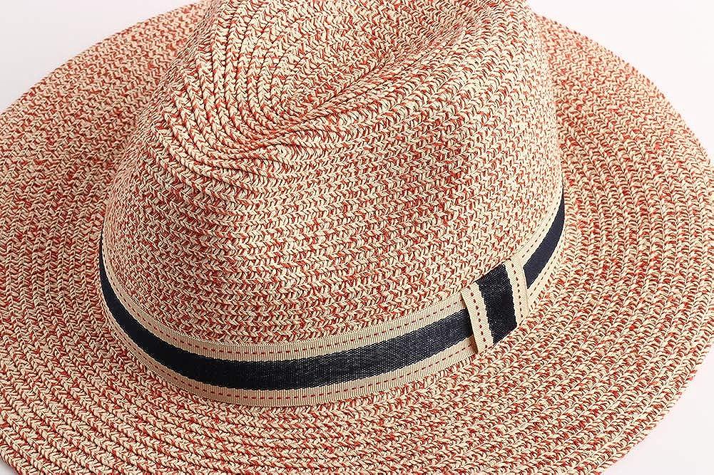 UV AHAHA Cappello da donna in paglia a tesa larga Panama Cappello estivo da spiaggia floppy UPF50