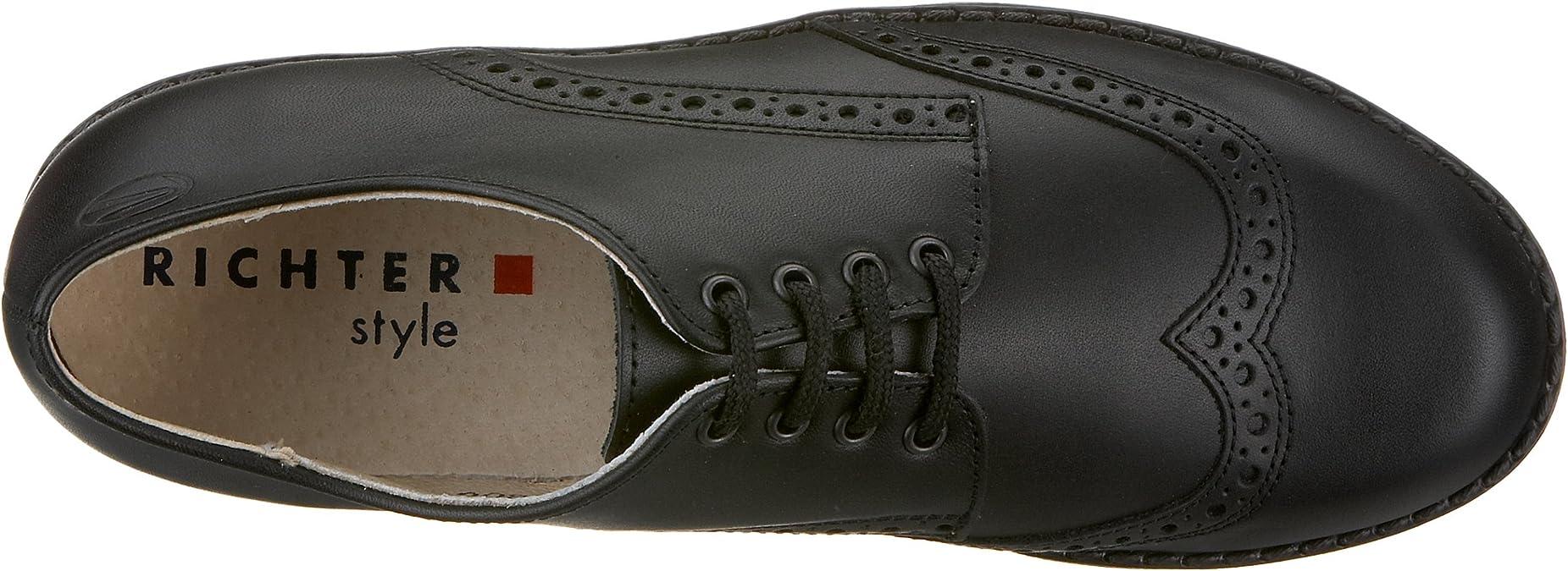 schwarz 1020 Jungen Klassische Halbschuhe schwarz, Richter Enrico 12.6030.1020