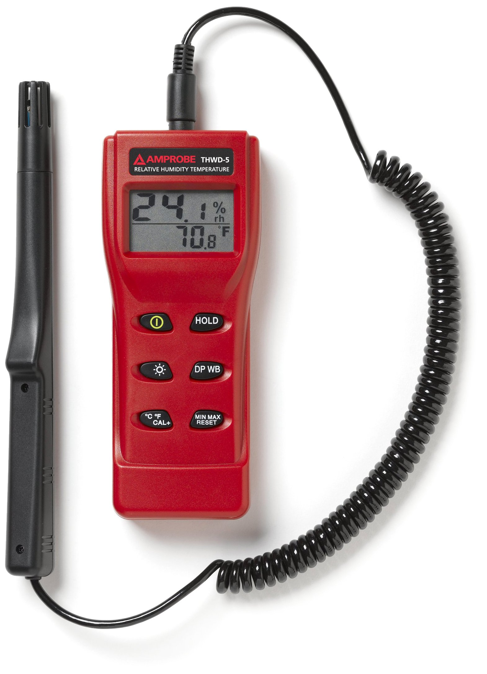 Amprobe THWD-5 Temperature and Relative Humidity Meter with Wet Bulb and Dew Point
