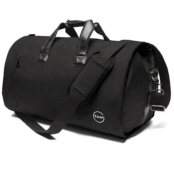Amazon.com | Crospack Garment Bag for Travel Suit Bag Duffle for Men Weekender Handbag with Shoe Compartmen Black | Travel Duffels