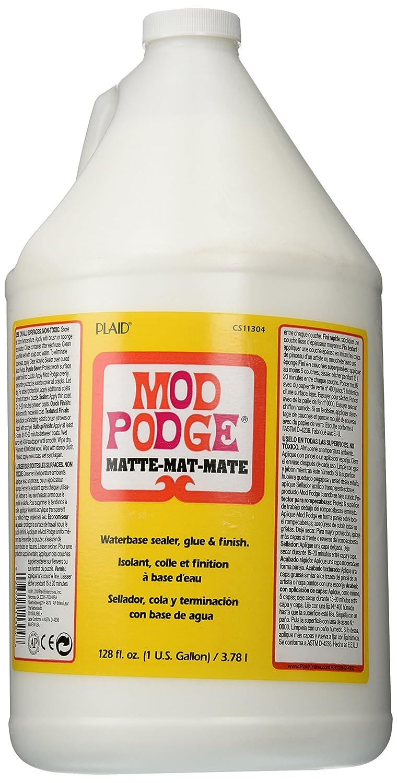 Mod Podge CS11304 Waterbase Sealer, Glue and Finish, 1 gallon, Matte ...