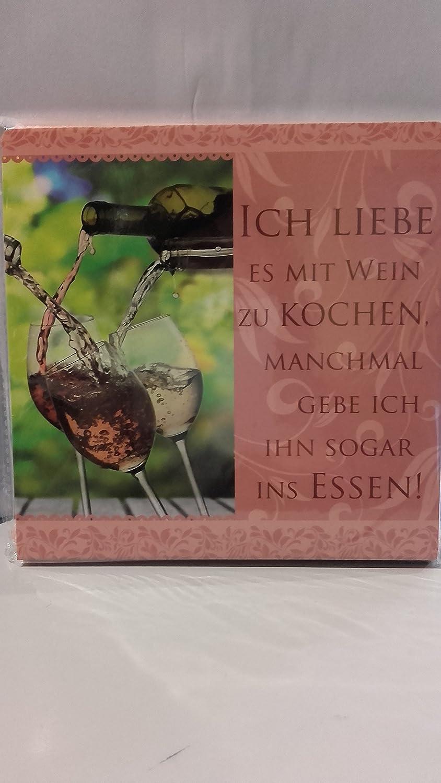 Geschirrtuch Mit Spruch Ich Liebe Es Mit Wein Zu Kochen 10171 028