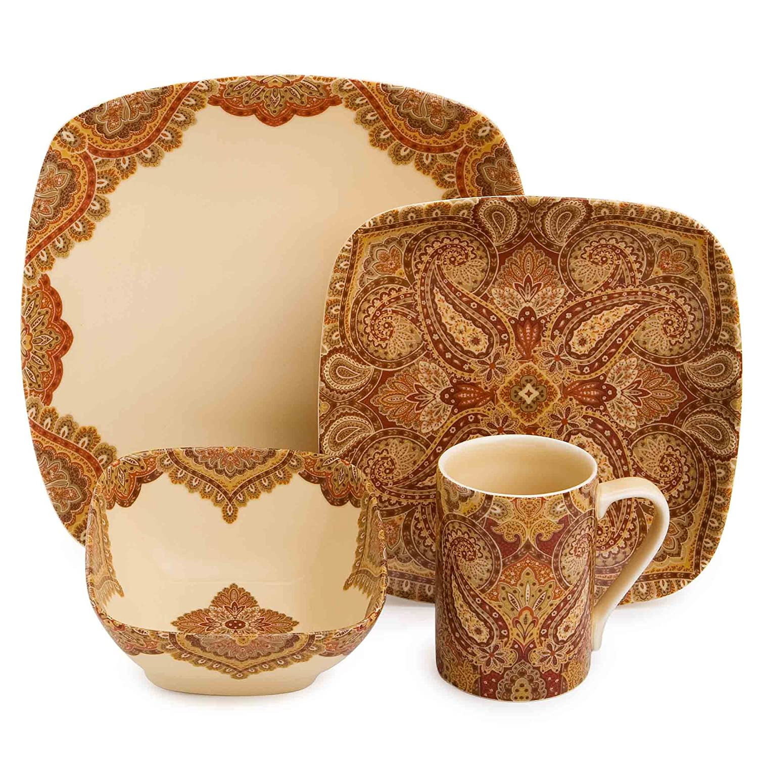 Amazon.com | 222 Fifth Spice Road 16-Piece Dinnerware Set Dinnerware Sets Dinnerware Sets  sc 1 st  Amazon.com & Amazon.com | 222 Fifth Spice Road 16-Piece Dinnerware Set ...