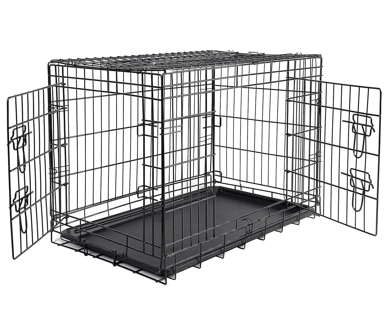 WOLTU HT2030m3 Cage pour Chien Pliable et transportable, Cage Pliante en métal Taille XL, 107x71x76cm