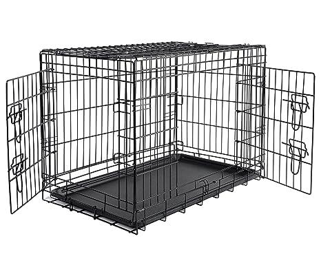 EUGAD Jaula Plegable de Metal para Mascota Cachorros Gatos Jaula ...