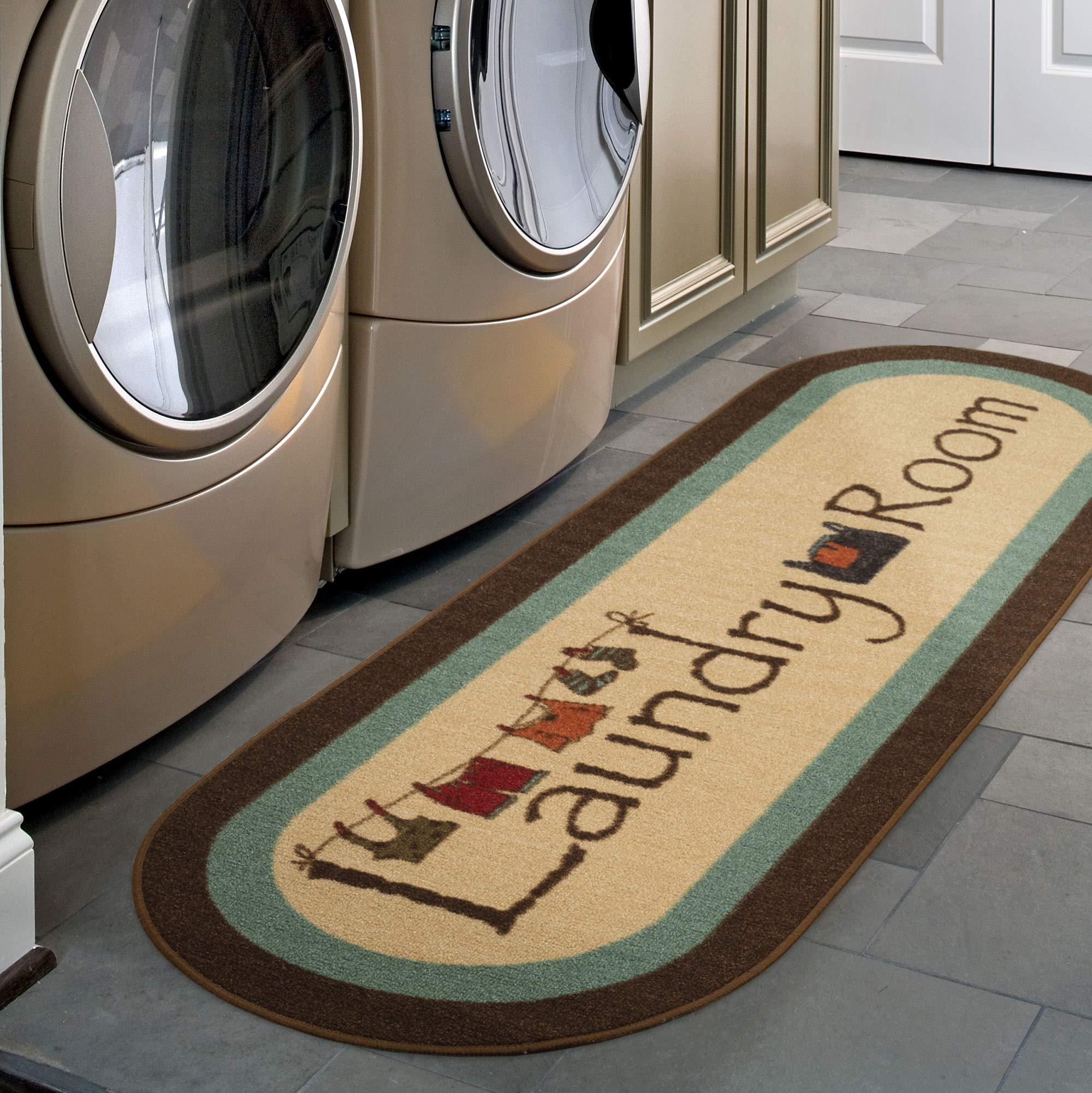 "Ottomanson LA4058O-2X5 Laundry Runner Rug, 20"" X 59"", Brown"