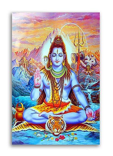 Tamatina Canvas Paintings Jai Shiv Shankar Shivling Canvas