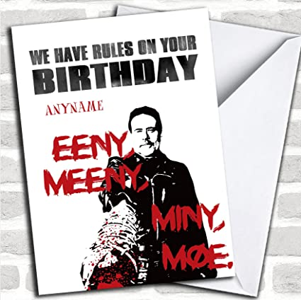 Amazon the walking dead negan rules birthday personalized the walking dead negan rules birthday personalized greetings card m4hsunfo