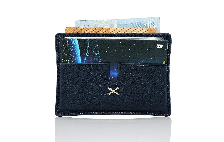 Identit/à Bancarie Titolare MyGadget 4x Porta Carte elegante Blocco Contraffazione Dati Personali Tecnologia Anti RFID e Blocca NFC per Carte di Credito