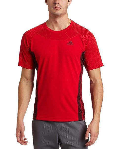 Adidas Supernova Camiseta de Manga Corta de Hombre, Color Rojo/Gris sólido, pequeño: Amazon.es: Deportes y aire libre