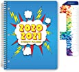 """Dated Elementary Student Planner for Academic Year 2020-2021 (Block Style - 8.5""""x11"""" - Comic Cover) - Bonus Ruler/Bookmark and Planning Stickers"""