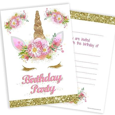Olivia Samuel Unicorn Girls Party Invitations