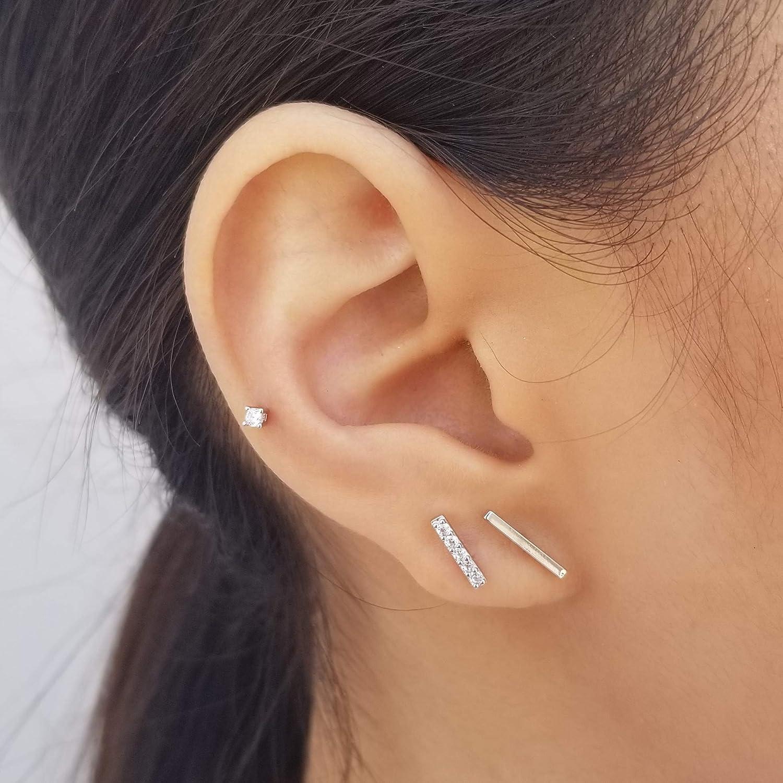 Minimalist Gold Bar Earrings