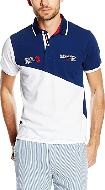 Pedro del Hierro Polo Sport Azul Marino/Blanco 3XL: Amazon.es ...