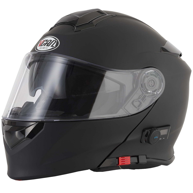 V271 BLINC Moto Motocicleta Bluetooth Cascos VCAN Modular Flip Up Bluetooth Cascos Touring: Amazon.es: Deportes y aire libre