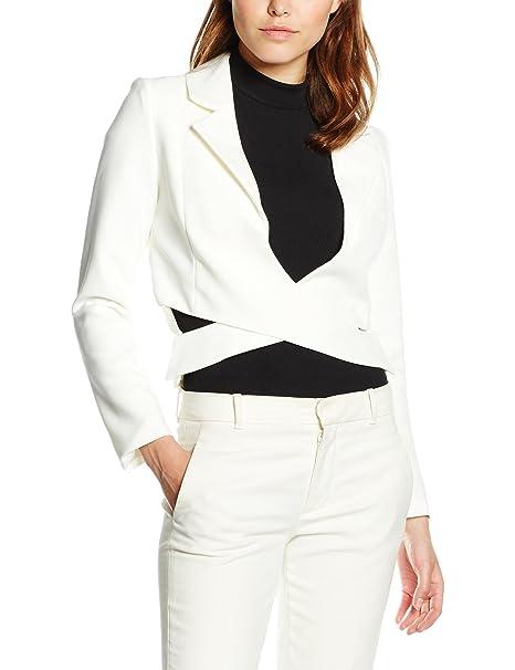 Lavish Alice Off White Crossover Front Blazer, Chaqueta para Mujer: Amazon.es: Ropa y accesorios