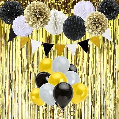 Decoraciones De Feliz Cumpleanos 6 Pompones 2 Bola De Panal 30
