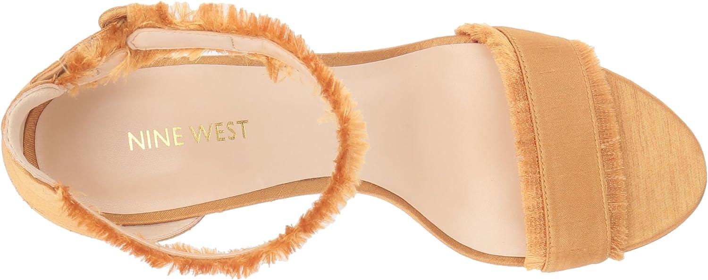Nine West Womens DARANITA Fabric Heeled Sandal