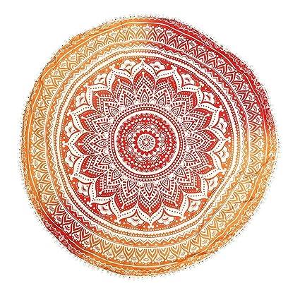 Mcitymall77 Toalla de playa Diseño indio tapete de pared,Ideal tapiz,mantel,decoración