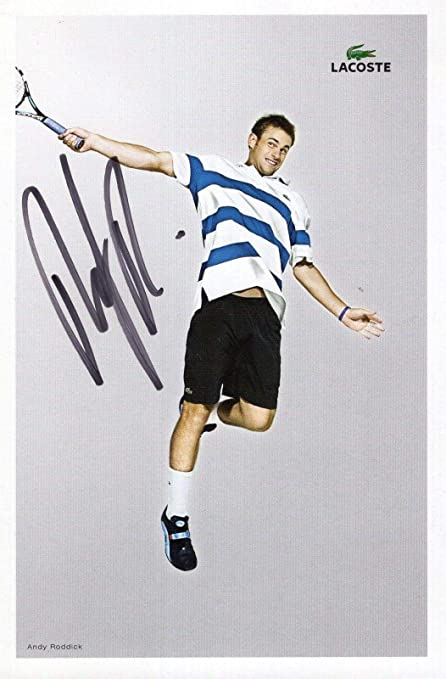 ef6fdaeb897a5 Signed Andy Roddick Photo - 4x6 COLOR +COA AWESOME PLAYER - Autographed  Tennis Photos at Amazon s Sports Collectibles Store