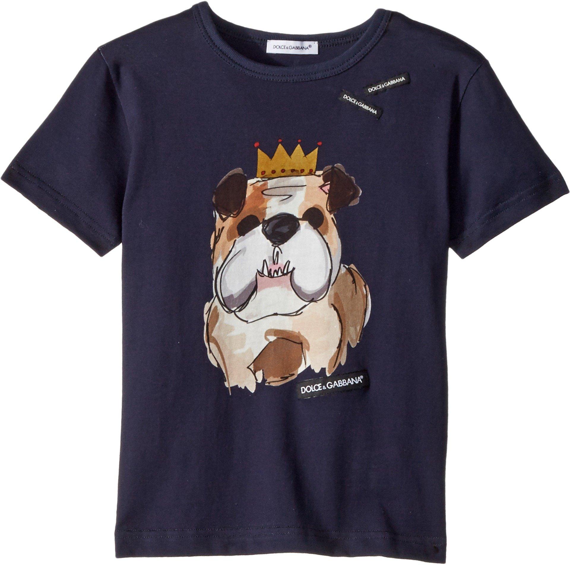 Dolce & Gabbana Kids Baby Boy's T-Shirt (Toddler/Little Kids) Blue Print 3T