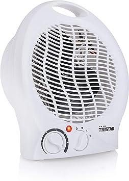Tristar KA-5039 Calefactor con ventilador eléctrico y 3 funciones ajustables, Termostato regulab...
