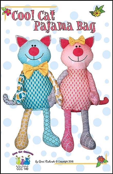 Amazon Cat Pattern Cool Cat Pajama Bag PATTERN ONLY Arts Adorable Pajama Pattern