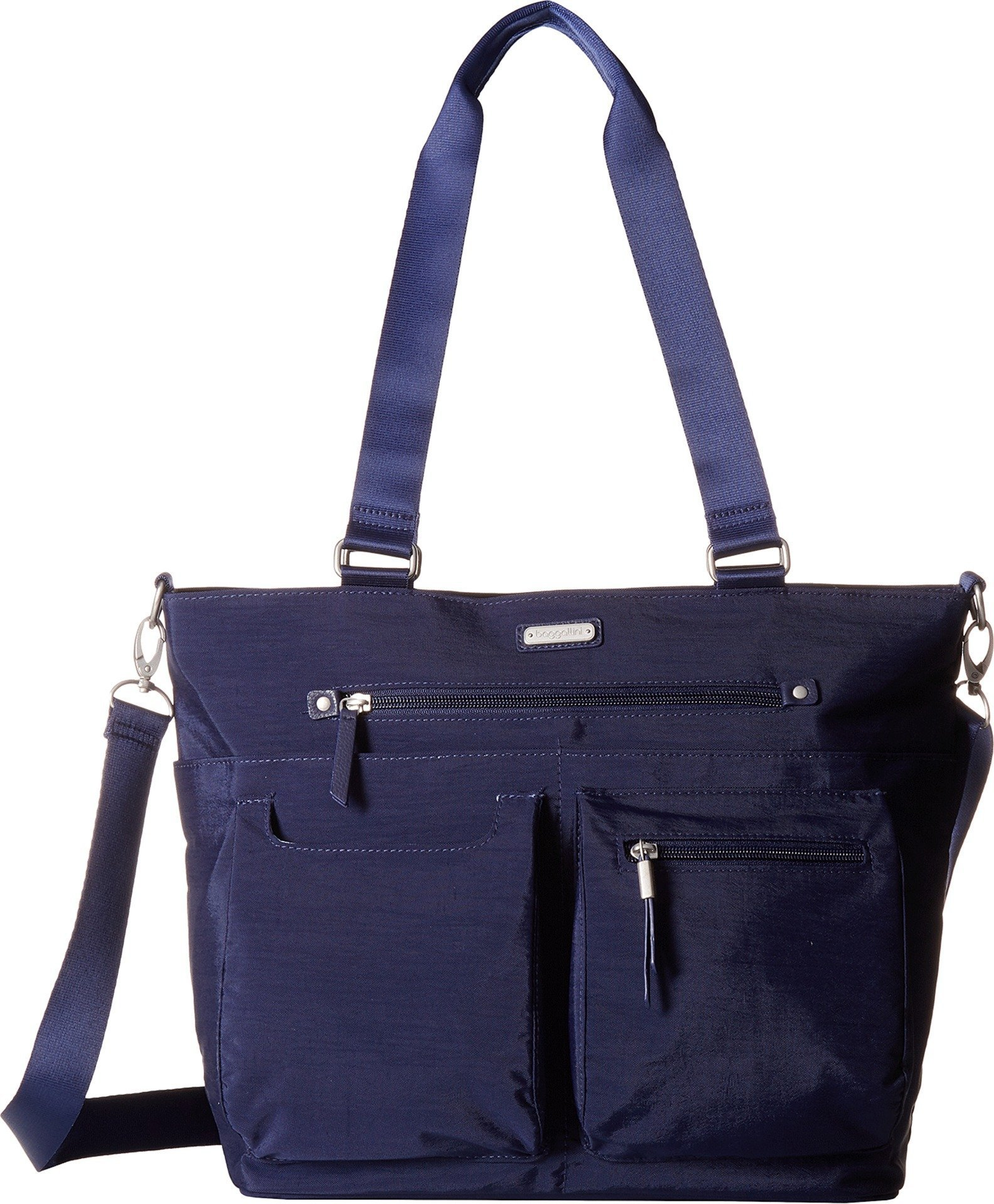 Baggallini Women's New Classic Any Day Tote with RFID Phone Wristlet Navy One Size by Baggallini