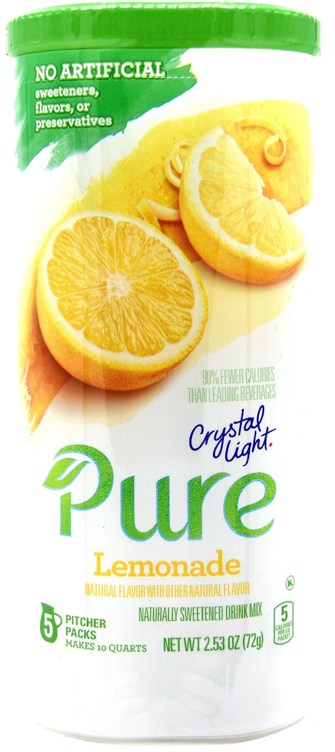 Crystal Light Pure Lemonade Drink Mix, 10-Quart Canister (12 Canister Pack)