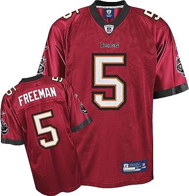 Amazon.com : Josh Freeman Jersey: Reebok Red Replica #5 Tampa Bay ...