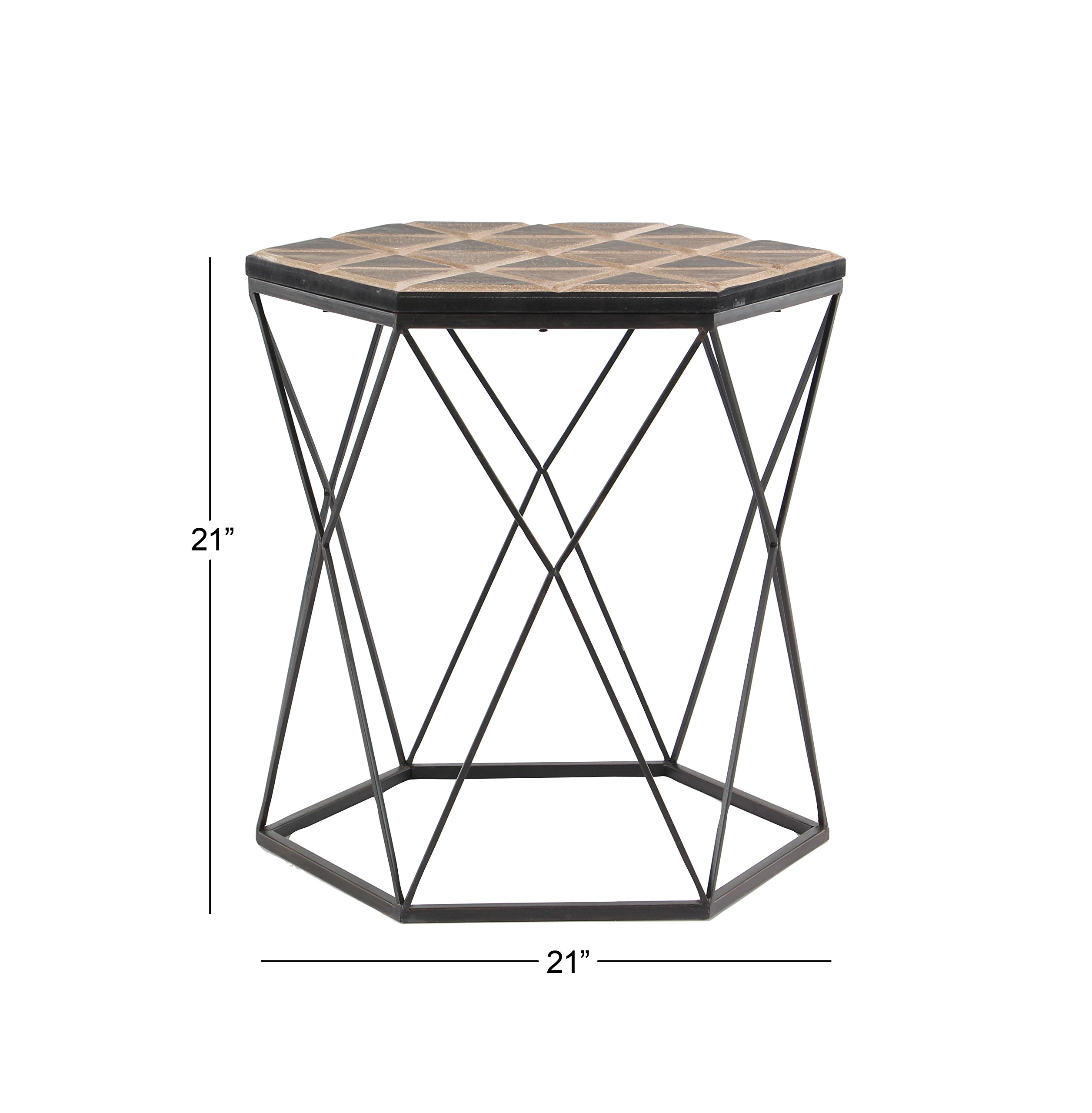 Deco 79 98748 Accent Table Brown/Gray by Deco 79 (Image #3)