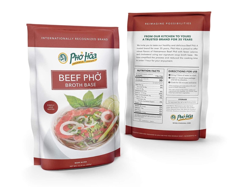 Pho Hoa Noodle Soup - Pho Beef Broth Base: Amazon com: Grocery