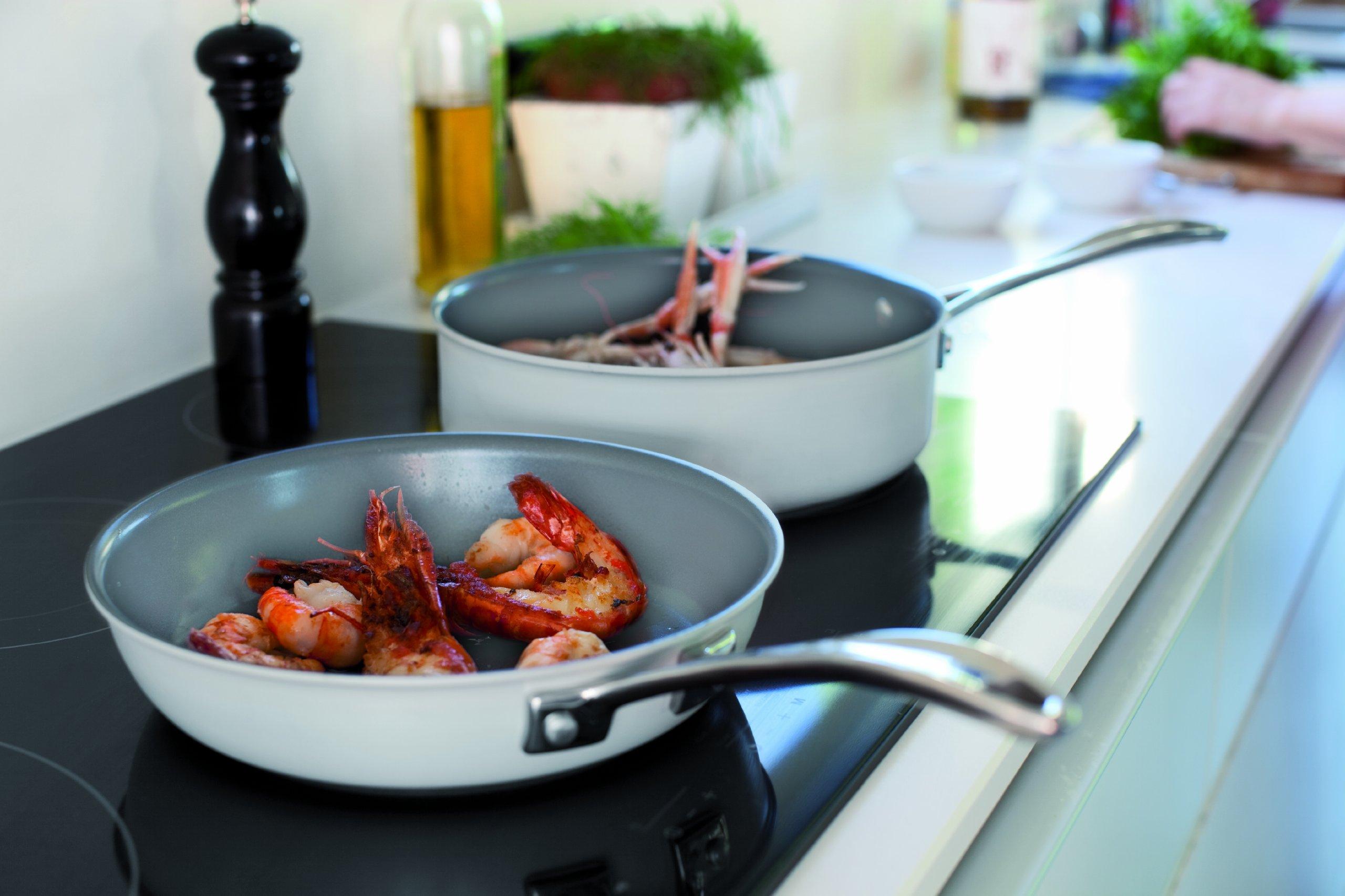 Beka Chef Eco-logic 100-Percent Eco-Hardened-Aluminum Bekadur-Ceramica-Nonstick 8-Inch Fry Pan