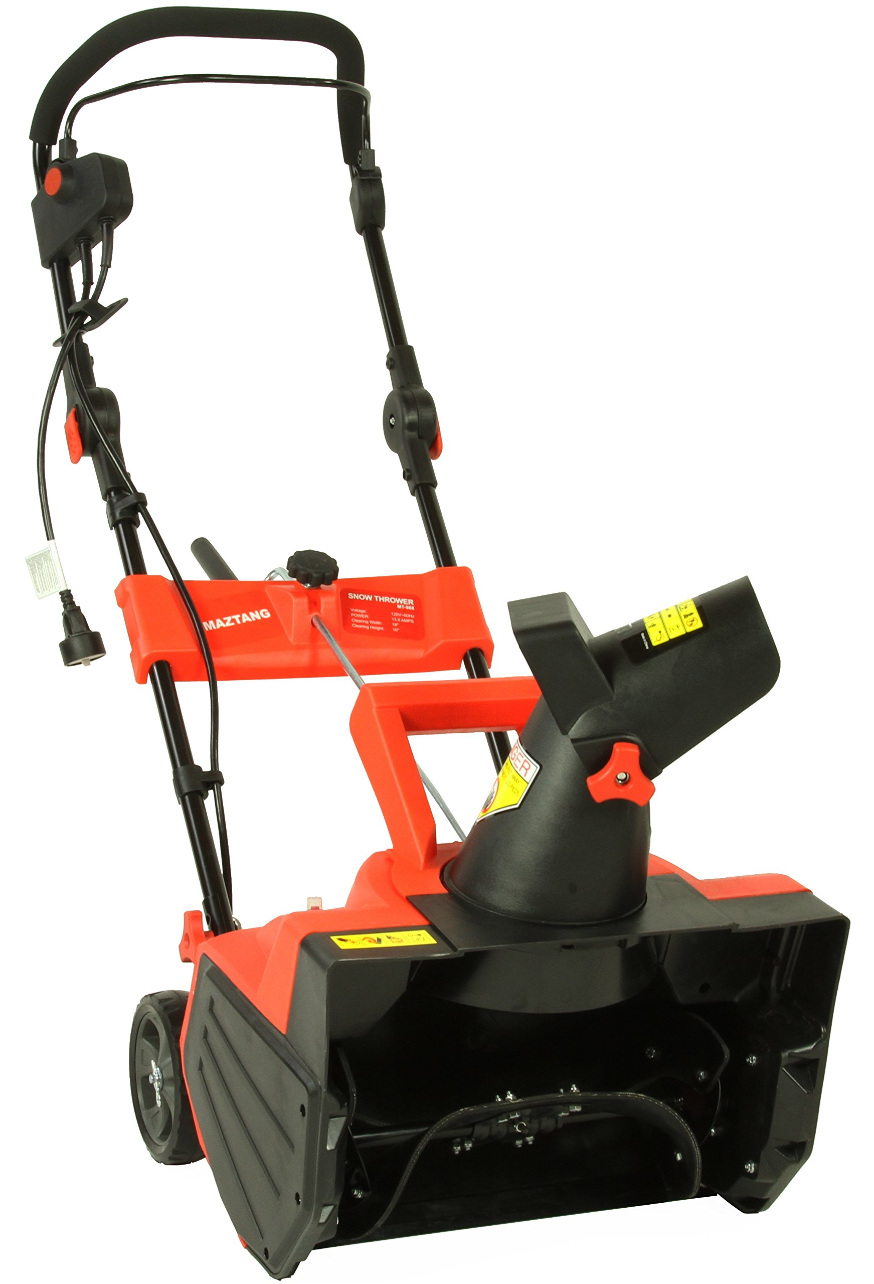 Maztang MT-988 13A Electric Snow Blower, 18''