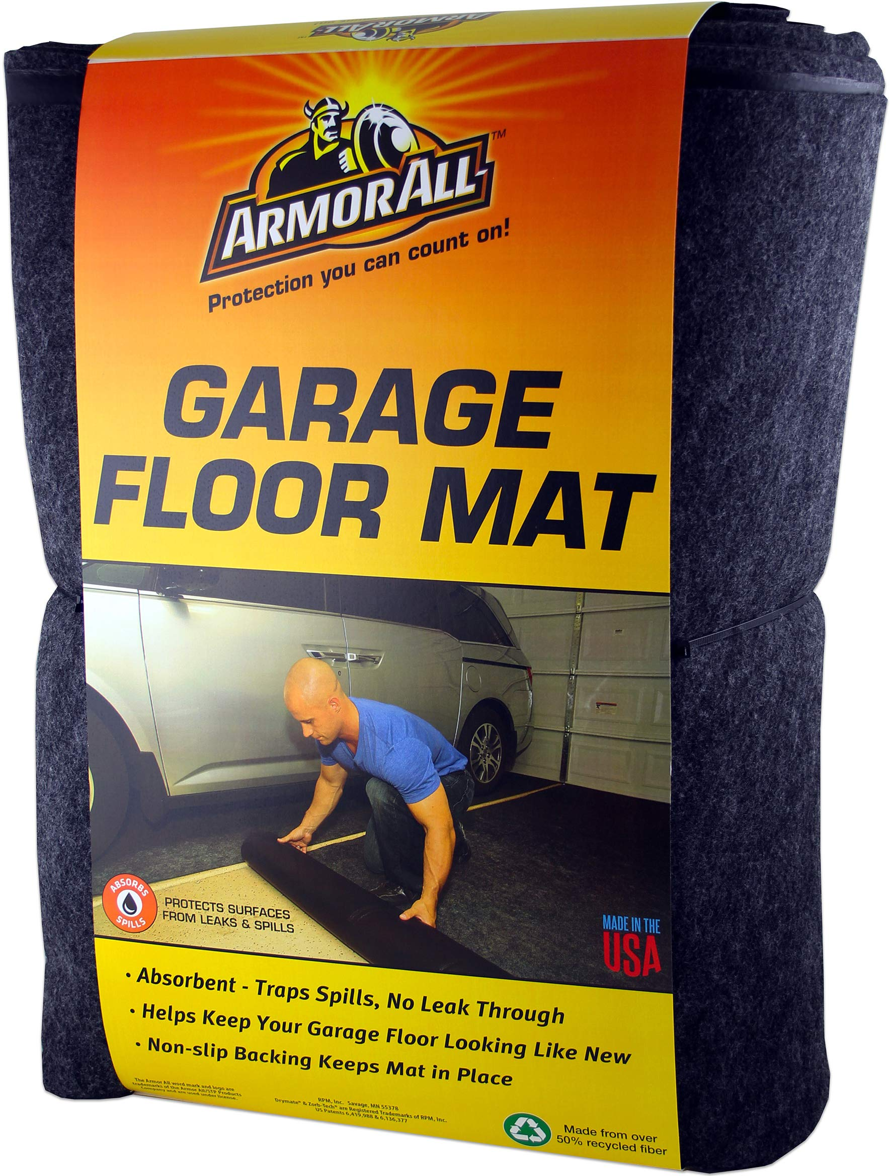 Armor All AAGFMC17 Charcoal 17' x 7'4'' Garage Floor Mat by Armor All (Image #1)