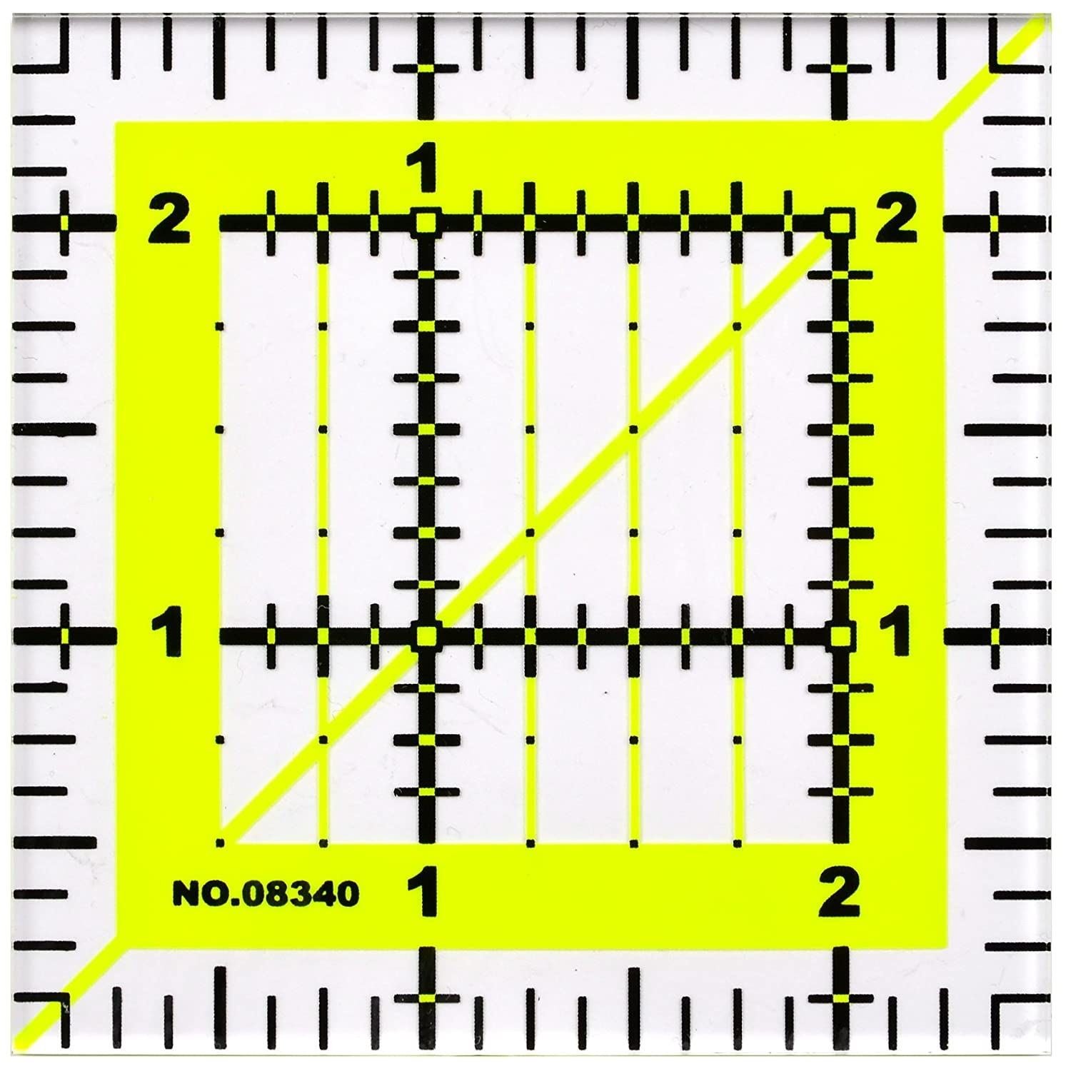 Clear and Accurate Markings Skyhawk Acrylic Quilting Rulers Combo Pack of 4 Quilters Ruler 9.5 X 9.5, 6 X 6, 4.5 X 4.5, 2.5 X 2.5