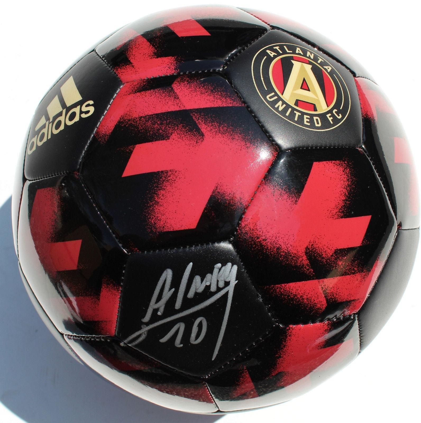 Miguel Almiron Signed Atlanta United FC Soccer Ball w/COA Size 5 Autographed Soccer Balls