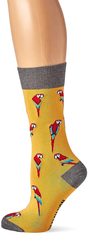 Jimmy Lion Parrots, Calcetines para Mujer, Amarillo (Yellow), 36-40: Amazon.es: Ropa y accesorios