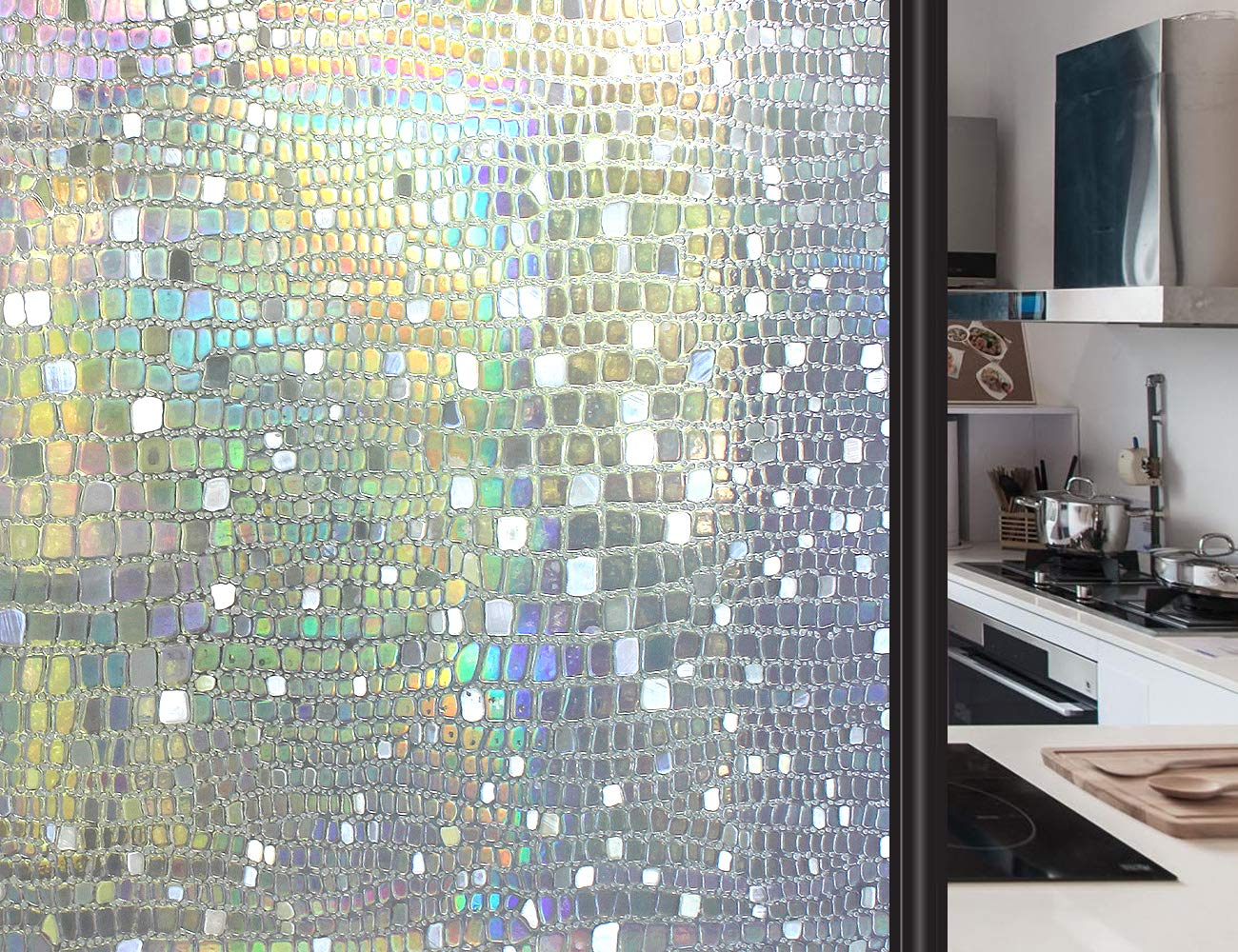 Artscape Decorative Window Film.Artscape Window Film Privacy Uv Blocking Heat Control Reusable Static Cling Stained Glass Decorative Covering Stickers For Home 3d 01 35 4 Inch X 8 2