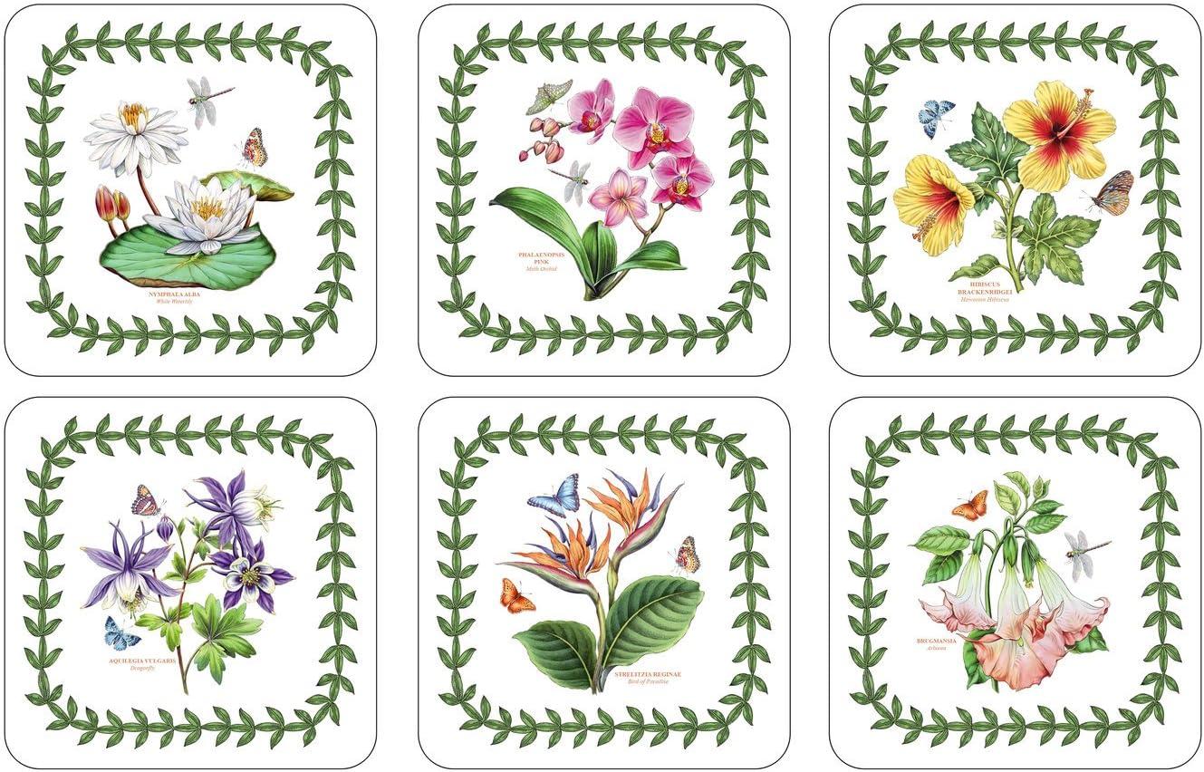 Pimpernel Exotic Botanic Garden Coasters - Set of 6