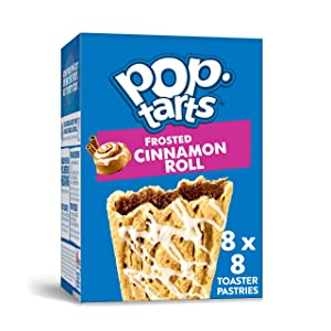 Pop-Tarts, Breakfast Toaster Pastries, Frosted Cinnamon Roll, Proudly Baked in the USA, 13.5oz Box (Pack of 8)