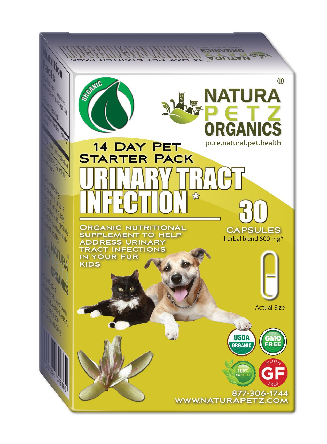 Natura Petz Organics Urinary Tract Infection Starter Pack for Dogs and Cats by Natura Petz Organics