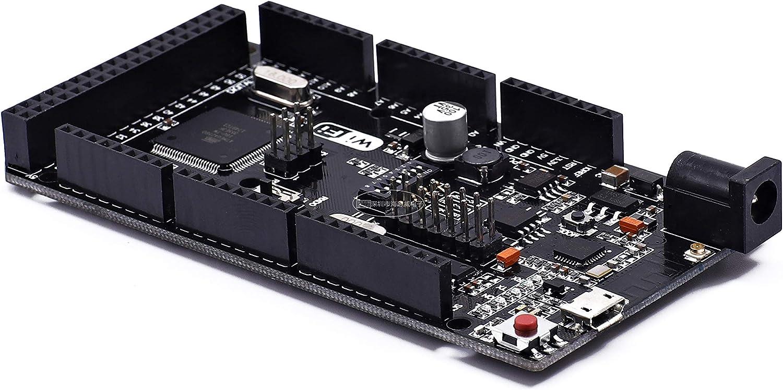 WiFi R3 ATmega2560+ESP8266 32Mb Memory USB-TTL CH340G SongHe Mega2560 Compatible for Arduino Mega NodeMCU for WeMos ESP8266