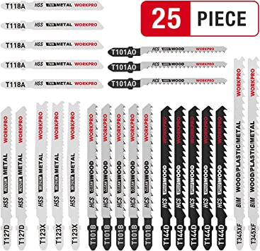 5 x Stichsägeblatt Stichsägeblätter Holz Alu Kunststoff Metall T-Schaft