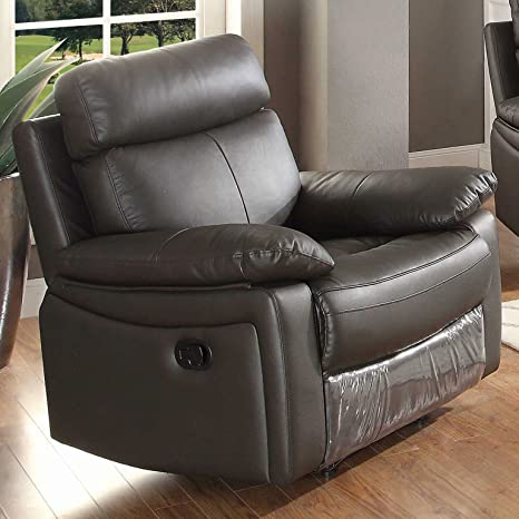 Magnificent Ac Pacific Ryker Collection Contemporary Upholstered Reclining Leather Arm Chair Dark Brown Caraccident5 Cool Chair Designs And Ideas Caraccident5Info
